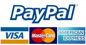 Pagamenti sicuri con Paypal e le maggiori carte di credito